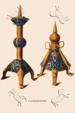 Two medieval candlesticks
