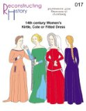 Reconstructing History: 14th Century Women's Kirtle or Cotehardie Pattern
